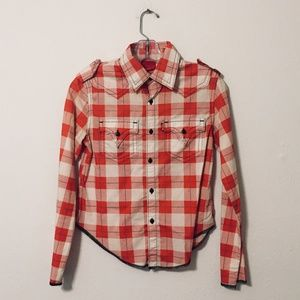Vintage LEVI'S Red Plaid Top